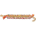 more details on Fiorelli Gold Coloured Pink and Orange Woven Bracelet.