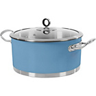 more details on Morphy Richards Accents 24cm Casserole Dish - C.Flower Blue.