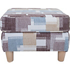 more details on Heart of House Colby Fabric Footstool - Light Patterned.
