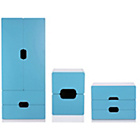 more details on Tolga 3 Piece 2 Door Wardrobe Package - Blue.