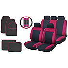 more details on Streetwize Car Seat Cover and Mat Bundle Set - Black/Red.