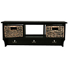 more details on Wall Storage Cubby Unit with 2 Baskets - Black.