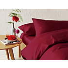 more details on Heart of House Deep Red Non Iron Bedding Set - Kingsize.