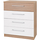 more details on Deuce 4 Drawer Chest - White and Oak.
