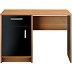 more details on Caspian Single Pedestal Desk - Walnut and Black Gloss.
