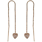 more details on Rose Gold Plated Silver Heart Long Thread Earrings.
