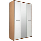 more details on New Sywell 3 Door Wardrobe - Oak Effect and White.