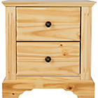 more details on Heart of House Warwick 2 Drawer Bedside Chest - Pine Effect.