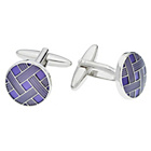 more details on Purple Weave Cufflinks.
