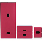 more details on Tolga 3 Piece 2 Door Wardrobe Package - Pink.