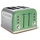 Morphy Richards 242006 Accents Four Slice Toaster - Green