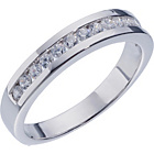 more details on Sterling Silver Cubic Zirconia Eternity Ring - Size M.