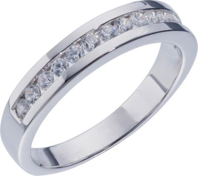 buy sterling silver cubic zirconia eternity ring size m