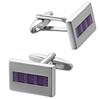 more details on Transparent Purple Enamel Cufflinks.