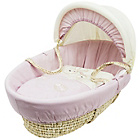 more details on Daisy Boo Picnic in the Park Pink Moses Basket.