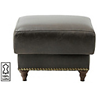 more details on Heart of House Argyll Studded Leather Footstool - Chocolate.
