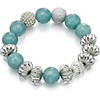 more details on Fiorelli Aquamarine and Silver Beaded Bracelet.