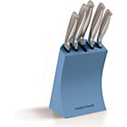 more details on Morphy Richards Accents 5 Piece Knife Block-Cornflower Blue