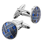 more details on Blue Weave Cufflinks.