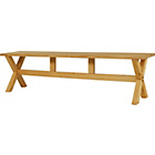 more details on Hudson Pine Cross Leg Bench.