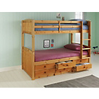 more details on Leigh Detachable Single Bunk Bed Frame - Pine.