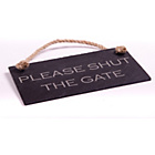 more details on Slate Hanging Sign - Please Shut the Gate.