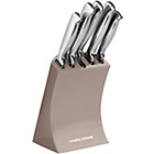 more details on Morphy Richards Accents 5 Piece Knife Block - Barley.