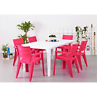 more details on Futura Pink and White 6 Seater Patio Set.