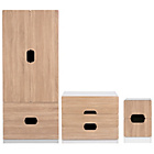 more details on Tolga 3 Piece 2 Door Wardrobe Package - Oak Effect.