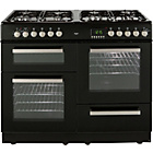 more details on Bush BCYU100DFB Double Dual Fuel Range Cooker - Black.