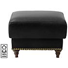 more details on Heart of House Argyll Studded Leather Footstool - Black.