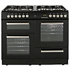 more details on Bush BCLU100DFB Dual Fuel Range Cooker - Black/Ins/Del/Rec.
