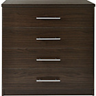 more details on HOME Normandy 4 Drawer Chest - Wenge Effect.