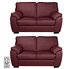 more details on Milano Regular and Regular Leather Sofas - Red.