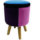 more details on Blue Lilac Storage Stool.