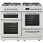 more details on Bush BCLU100DFW Dual Fuel Range Cooker - White Ins/Del/Rec.