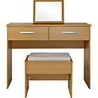 more details on New Hallingford Dressing Table, Stool and Mirror - Oak.