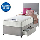 more details on Silentnight Middleton Pocket Memory Single 2 Drw Divan Bed.