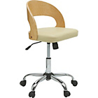 more details on Gas Lift Wooden Office Chair - Cream.