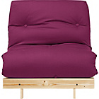 more details on ColourMatch Single Futon Sofa Bed with Mattress- Purple Fizz