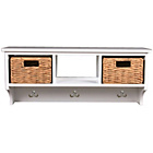 more details on Wall Storage Cubby Unit with 2 Baskets - White.