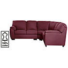 more details on Milano Leather Dual Facing Corner Sofa Group - Red.