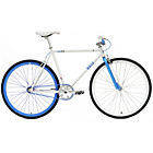 more details on Chill Bike 53cm with Blue Rims - White.