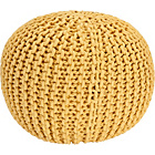 more details on Heart of House Cotton Knitted Pod - Yellow.