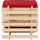 more details on ColourMatch Single Futon Sofa Bed with Mattress - Poppy Red.