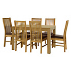 more details on HOME Penley Ext Dining Table and 6 Paris Chairs - Oak Stain.