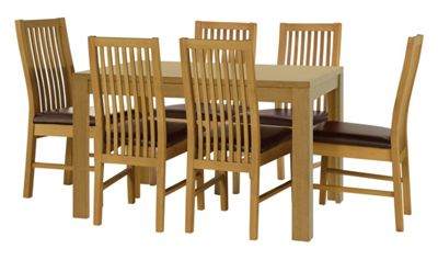 Buy HOME Penley Ext Dining Table and 6 Paris Chairs Oak  : 3578254RSETTMBampwid620amphei620 from www.argos.co.uk size 620 x 620 jpeg 34kB