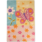 more details on Unique Kids Rug - 80 x 120cm - Butterfly.