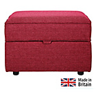 more details on Clara Fabric Footstool - Red.