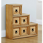 more details on Mountrose Puerto Rico 4 Drawer Stepped Unit - Waxed Pine.